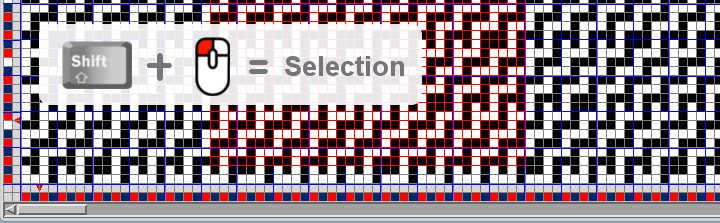 easier way to make selection in weave editor