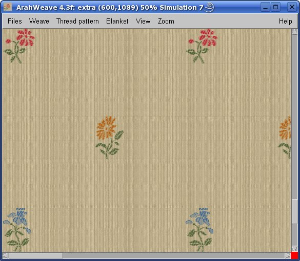 yarn pattern generator with ArahWeave software for weaving