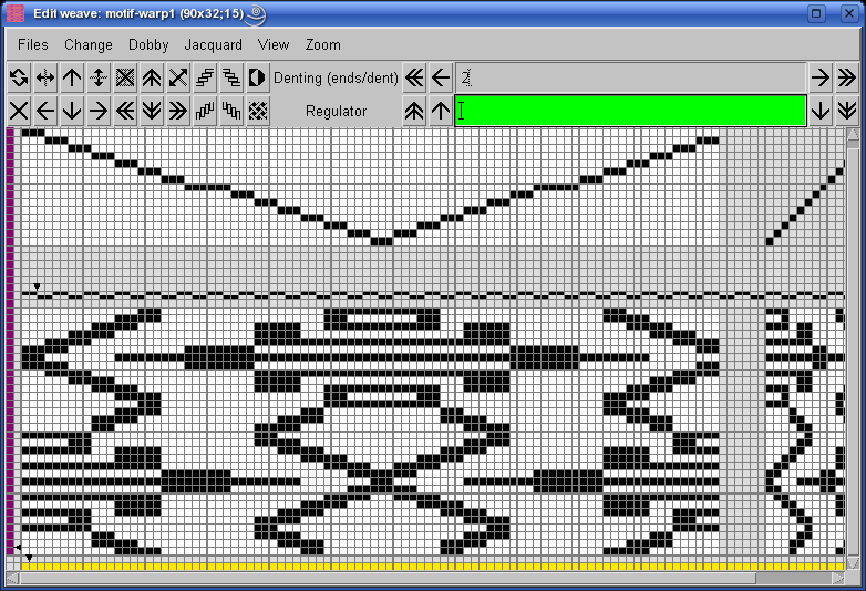edit weave with ArahWeave software for weaving