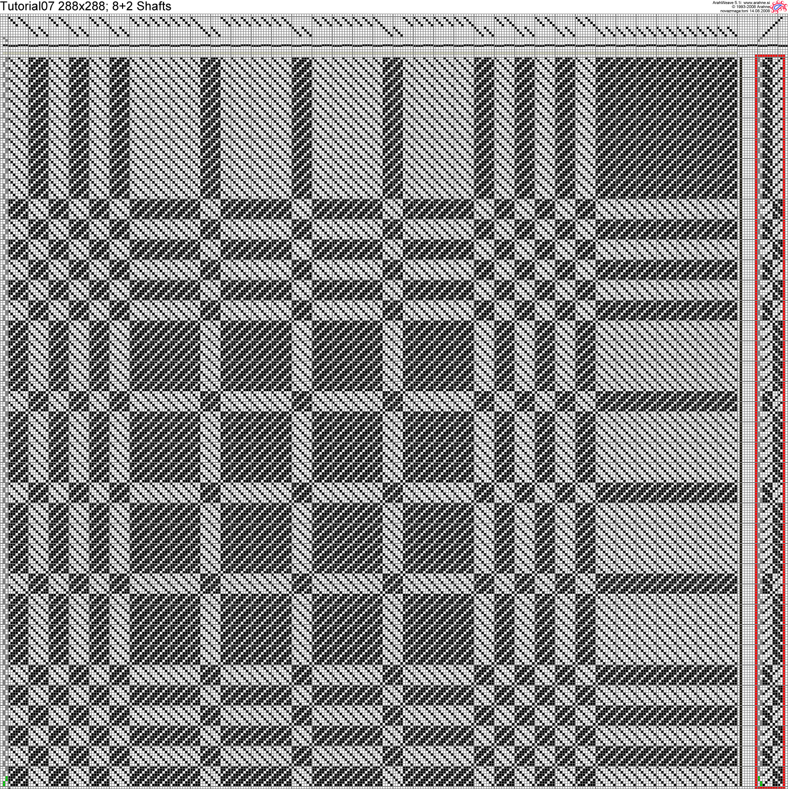 weave in ArahWeave software for weaving