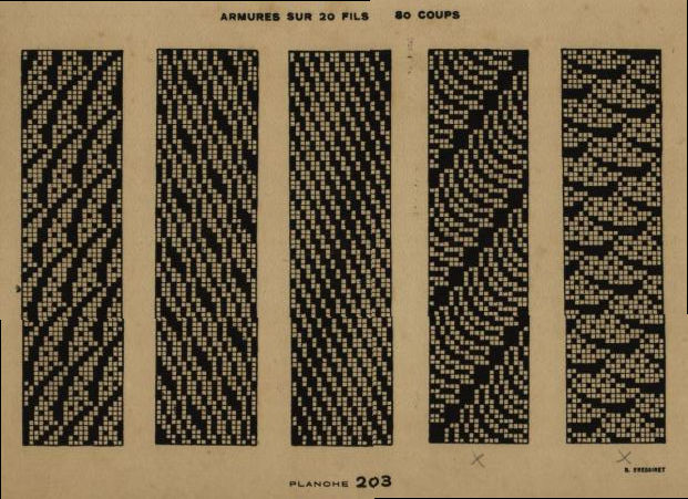 old weaving pattern for loom