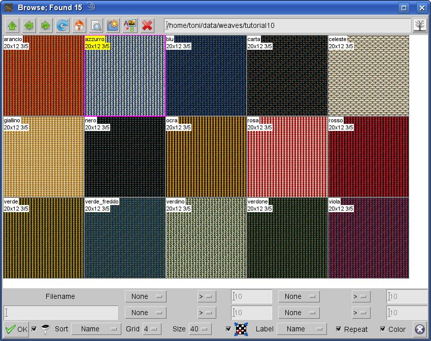 ArahWeave different colors in weave structure