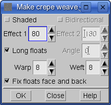 generating crepe weaves